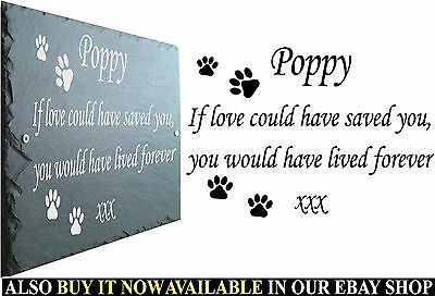Pet Memorial Slate Plaque, Personalised for your Pets - Add Any Name & Message