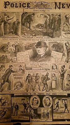 Illustrated Police News 1888 - Jack the Ripper, fatality on the Railway - News