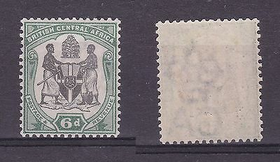 Nyasaland British Central Africa 1897 6d Black & Green Very Lightly Mounted SG46