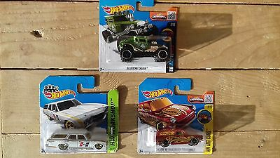Lot 3 voitures HOT WHEELS 1/64