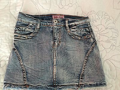 Retro Style Girls Jeans Skirt Size 7 Years