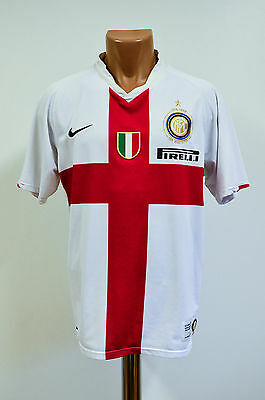 Size M Inter Milan 2007/2008 Centenary Away Football Shirt Maglia Jersey Nike