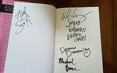 Dennis Dunaway snakes book Signed x4 Alice Cooper group complete Bruce Smith Lp