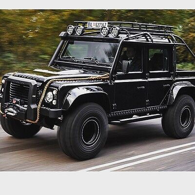 "Land Rover Defender Spot Lights LED CREE 5100 Lumen 60W 7"" x 2  Spectre Silver"