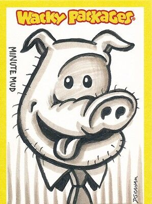 Topps 2013 Wacky Packages Series 11 Sketch Card Dustin Graham