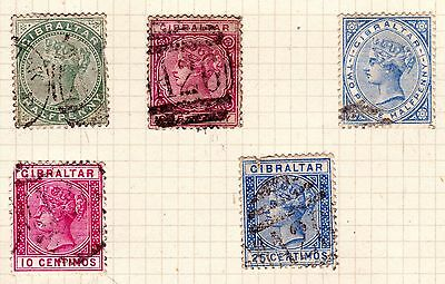Gibraltar Stamps. 1886/89 QV Issues. Used. #2185