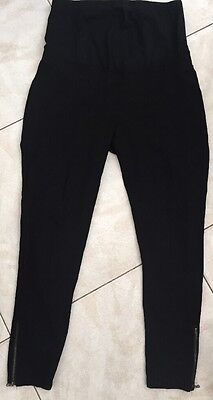 Jeanswest Maternity Pregnancy Tights Black Pants Waist Band Sz 12 Worn Once