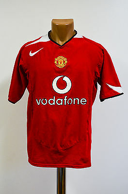 Size M Manchester United England 2005/2006 Home Football Shirt Jersey Nike