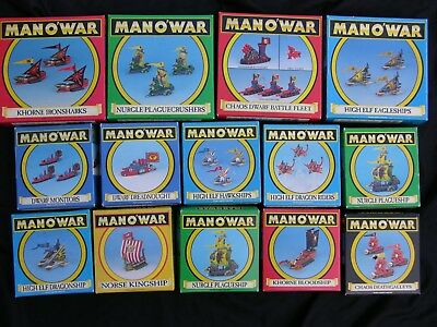 Games Workshop, Man O War, Boxed Ships & Monsters  Multi-Listing