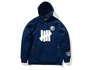 NEW UNDEFEATED x Shoyoroll SYR Technical Hoodie Blue Heather Size XL