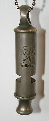 """City Police or Fire Whistle"" Police Whistle"