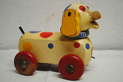 vintage toy pull toy made in Germany wooden