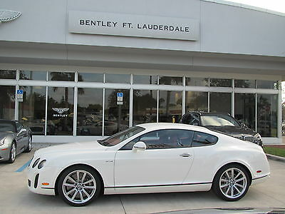 2011 Bentley Continental GT Supersports Coupe 2-Door 2011 11 BENTLEY GT SUPERSPORTS W12 * CERTIFIED WARRANTY * COUPE * NAIM *ONLY 8k
