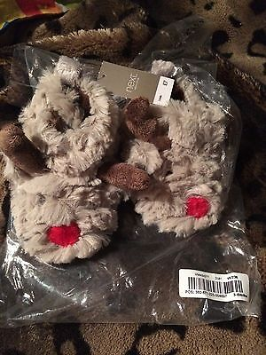 Next Baby Rudolph Booties 3-6 Months New With Tags