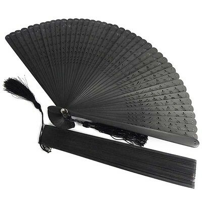 Vintage Chinese Japanese Hollow Dragonfly Folding Fan Hand Fan Creative Gift