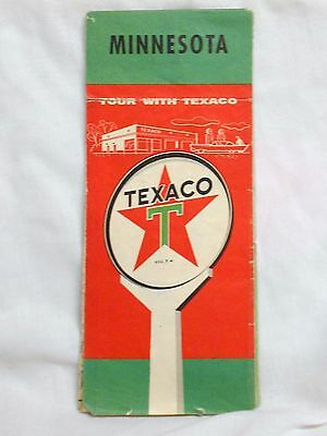 vint 1950 TEXACO OIL MINNESOTA HIGHWAY ROAD MAP from SMITH SERVICE WEBSTER SD