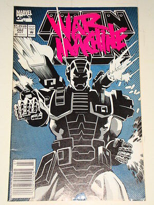 MARVEL IRON MAN ISSUE # 282 JULY 1992 1ST 'WAR MACHINE' 1st APPEARANCE AV-GD CON