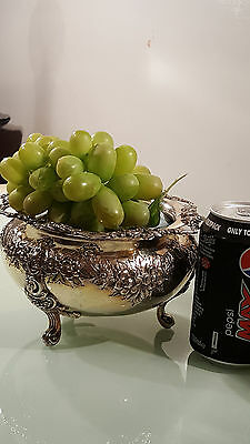 Vintage Silver Plated Bowl ,beautiful Table Decoration , Grape Bowl /fruit ,
