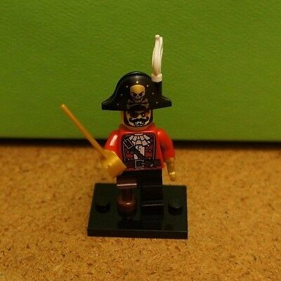 LEGO #8833 Minifigure Series 8 Pirate Captain Building Block Character NEW
