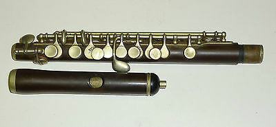 Beautiful Antique Unmarked Full Boehm Piccolo / Flute