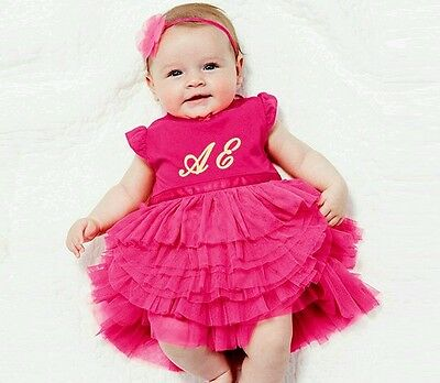 Eliza Personalised Ruffle Baby Girl Tutu Dress First Birthday Gift Present Party