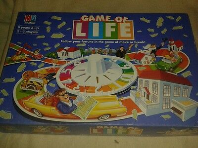 Game Of Life Board Game By Mb Games Complete And Boxed