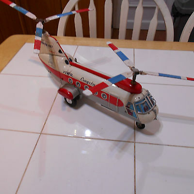 vintage tinplate battery operated helicopter cragstan vertol 1107