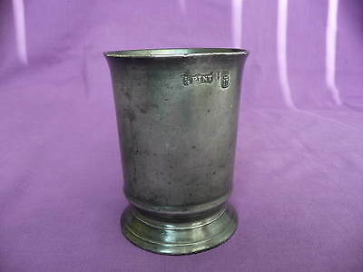 Antique, Victorian,1/2 Pint, Pewter Beaker, Buckingham County, Middlesex
