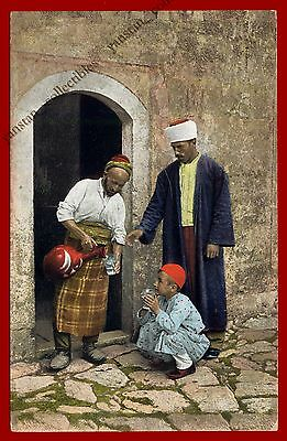 #27794 CONSTANTINOPLE-ISTANBUL Ottoman period. Old postcard painted [#36].