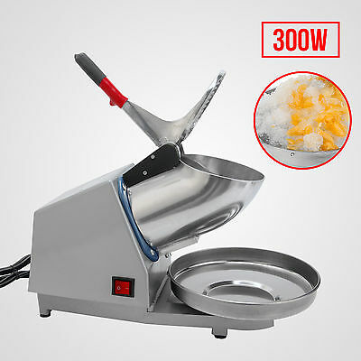 143LBS Snow Cone Ice Crusher Ice Shaver Machine  Maker Shaving Summer Cool 300W