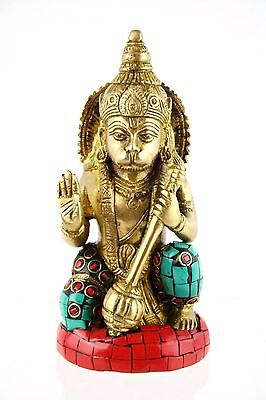 """SALE""Hanuman Bronze Hindu Statue Strength, Courage, Wisdom & Devotion-13cm/900g"