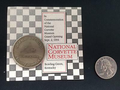 RARE National Corvette Museum Grand Opening Commemorative Coin NR