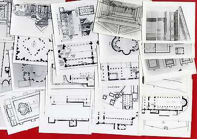 #21440 Greece 1950s? 57 photos 11x9 cm, archaeological-architectural drawings