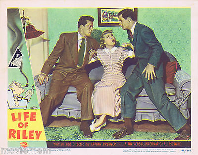 THE LIFE OF RILEY Lobby Card 7 William Bendix 1949 James Gleason Rosemary DeCamp