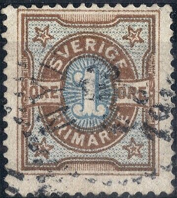 Sweden. 1892  Definitive 1 ore.   SG41. Used.
