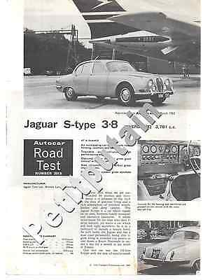 Jaguar S Type 1965  - Auto Car Road Test- Jaguar S-Type 3.8 1965 6 Sides (80)