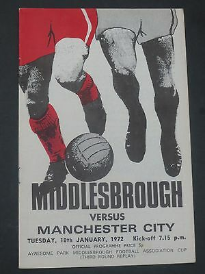 Middlesbrough V Manchester City FA Cup     1971/2