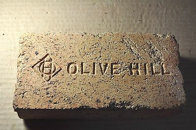 "Antique Fire  Brick  ""olive Hill""  W/ Fancy Logo   Ohio"
