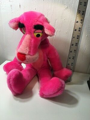 "Vintage 1980 PINK PANTHER Plush Stuffed Toy By MIGHTY STAR 15"" Tall"