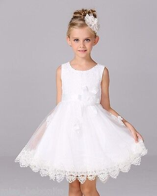 Florence Princess Girl Formal Dress Christening Wedding Party Gown Bridesmaid