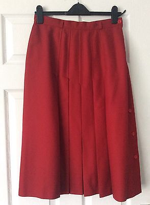 Vintage Dori red pleated skirt size 12 / 14