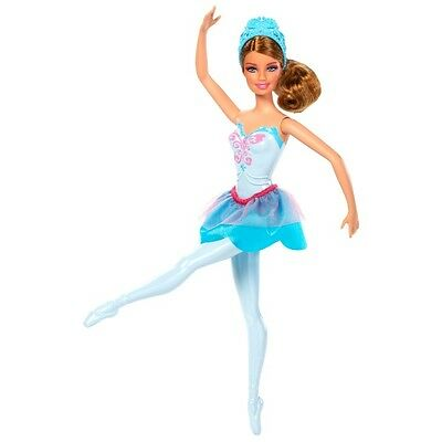 Barbie in The Pink Shoes Ballerina Doll, Blue Dress NEW Mattel