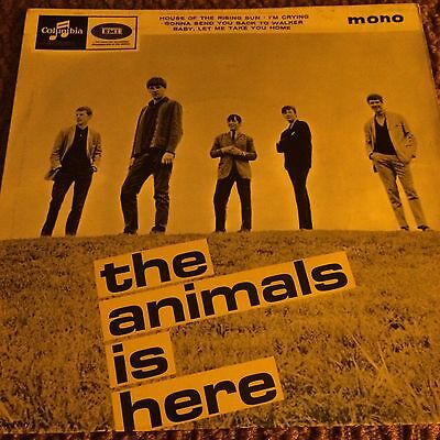 """the Animals.is Here.rare EP.baby Let Me Take You Home.45rpm.7"""".1964 Beat .mod."""