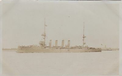 Royal Navy Real Photo. HMS Hampshire Armoured Cruiser. Lord Kitchner.  c 1910