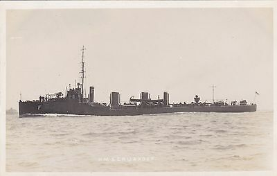 Royal Navy Real Photo. HMS. Crusader. Tribal  Class Destroyer.  c 1910