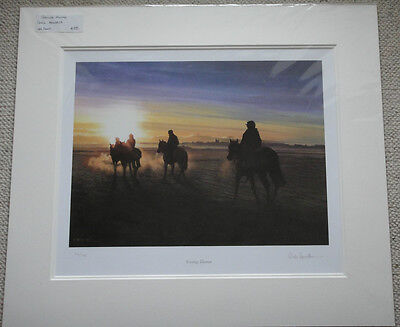 "A Mounted, Ltd Ed, Signed Print by Chris Howells Entitled ""Going Home""."