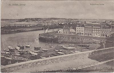 Channel Islands Postcard. St. Helier, Jersey. Valentine's. Lovely!  Mailed 1904