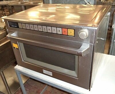 PANASONIC HEAVY DUTY STAINLESS STEEL COMMERCIAL MICROWAVE 1700 Watts