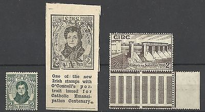 Ireland 1930 Shannon Hydro-Electric Scheme 2d stamp MNH 2d Daniel O'Connell MLH