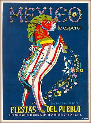 1959 Mexico le Esperal Vintage Mexican Travel Advertisement Art Poster Print